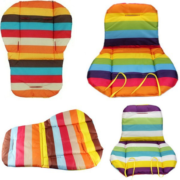 liner car seat pad waterproof padding pram rainbow baby kids stroller cushion accessories ll8china