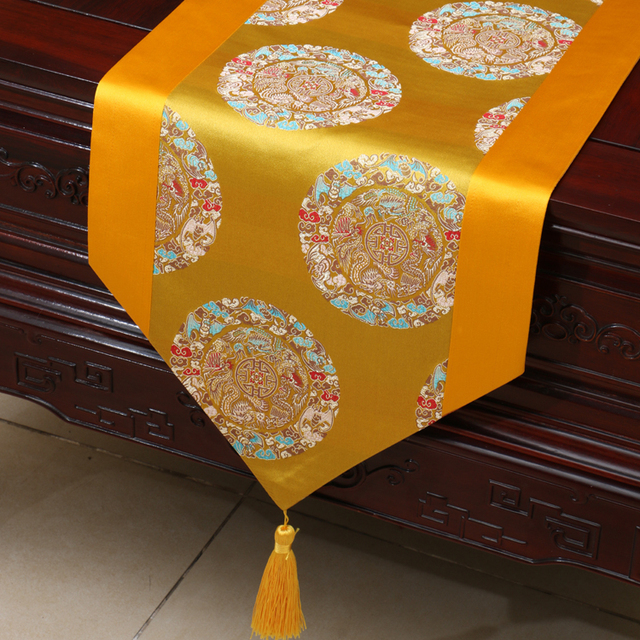 Vintage Patchwork Lucky Chinese Table Cloth Runner Christmas Decorative Placemat Tel Damask Tablecloth Dining Pads