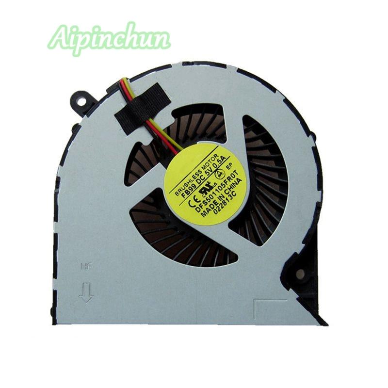Aipinchun 3PIN CPU Cooling Fan For Toshiba C850 C855 C870 C875 L850 L850D L870 L870D Cooler Laptop Fan DFS501105FR0T FB99