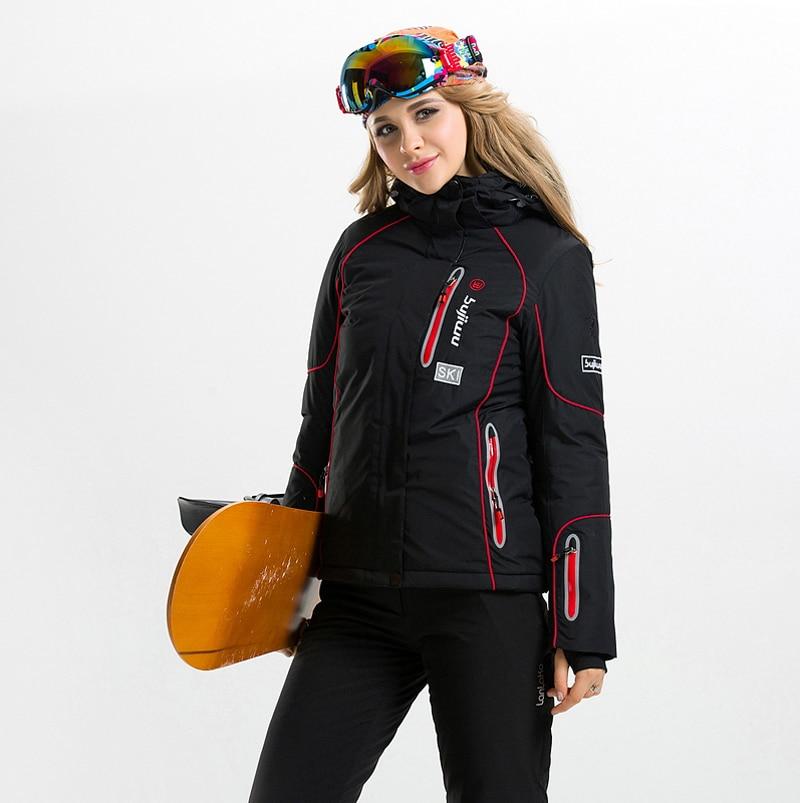 Prix pour Hiver Neige Costume de Ski Veste + Pantalon En Plein Air Respirant Ski Costume Thermique Snowboard Vêtements Randonnée Camping ou Vélo Ensemble