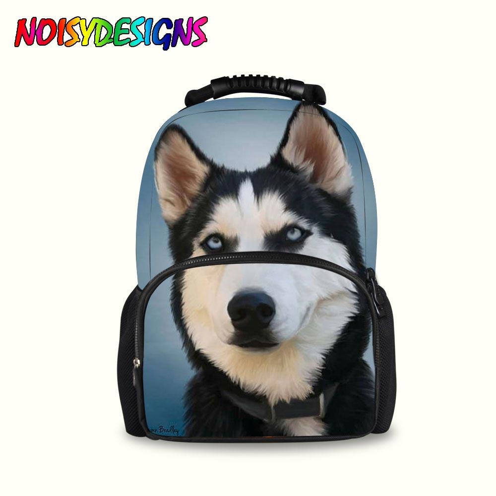 Husky Printing Pattern Female Shoulder Back Bag mochilas infantil Dog Pattern School Backpack Sac a dos Mochila Men Women in School Bags from Luggage Bags