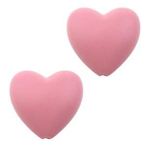 Image 3 - 100 pcs/lot perles de dents en Silicone en forme de coeur de qualité alimentaire bricolage perles de dentition en silicone sans bpa pour Bracelets de bébé bébés à mâcher