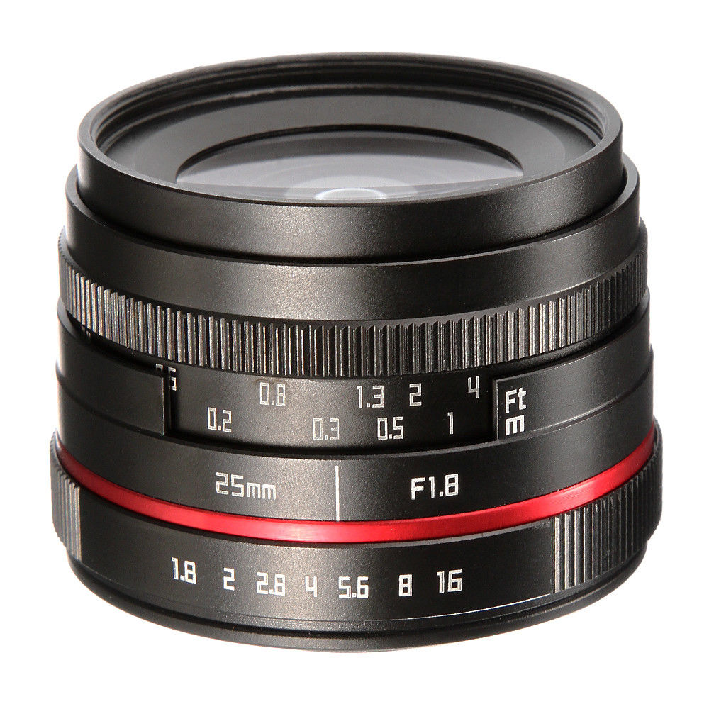25 мм F1.8 объектив с фиксированным фокусным расстоянием ручная фокусировка для sony E-крепление беззеркальных Камера A6500 A6000 A5100 A5000 NEX7 NEX6 NEX5