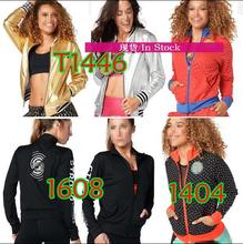 Frau Fitness tops Zip Up Jacke frau mäntel Jacke Training & Übung Jacken T1404 T1608 T1446(China)