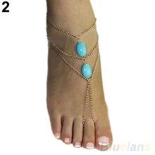 2016 2 types ankle Bracelet Bangle Slave Chain Link Finger Hand Harness Anklets Chain 01US 4OLB
