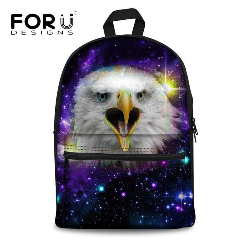 Forudesigns/Волк лошадь Для женщин рюкзак Вселенной Galaxy Bagpack для подростка Обувь для девочек зоопарк животных дети рюкзак оптовая продажа