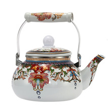 2.5L  Enamel Pot Traditional Chinese Bell shaped pot Thickened Water Kettle Electromagnetic Furnace Gas