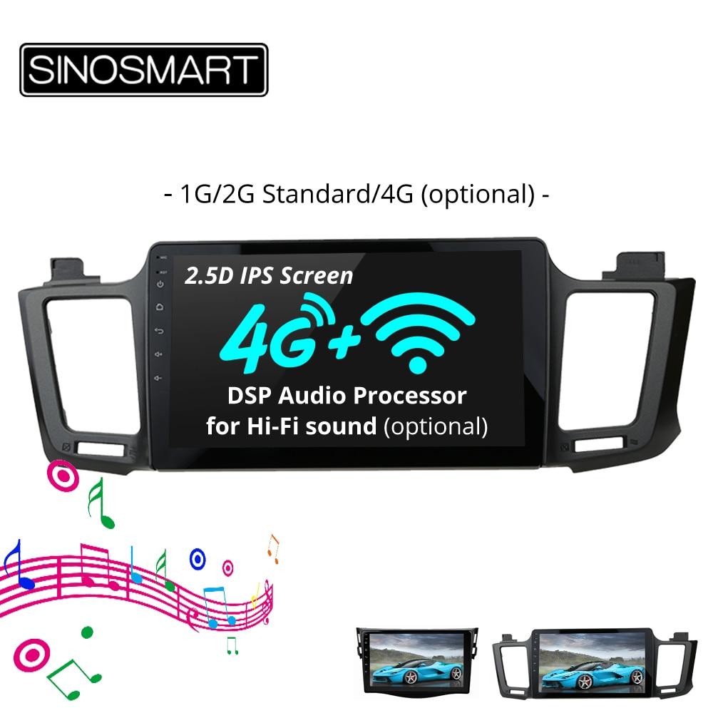 SINOSMART 2 5D IPS Screen Car Audio Navigation GPS Player for Toyota RAV4 2006 2017 32EQ