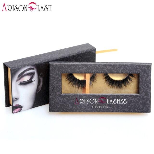 Ariosn Lashes Gorgeous 3D Mink Eyelashes Crisscross Thick False Eyelashes Extension Handmake for Makeup 1ps/lot Free Shipping