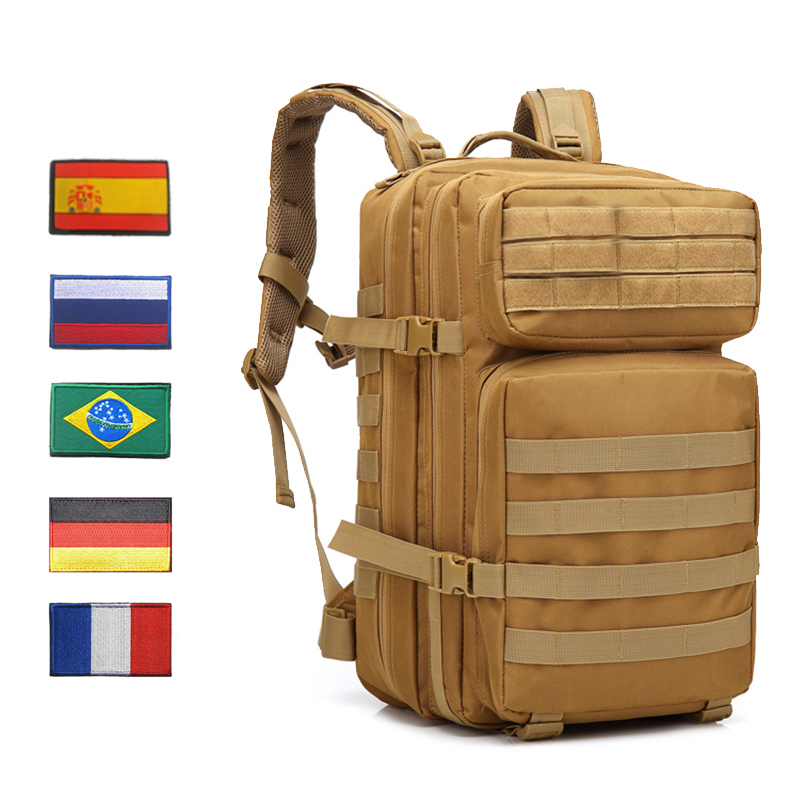Waterproof Outdoor Military Tactical Backpack 50L Men Army Molle 1000D Bags Bagpack For Hiking Camping Hunting Mountaineering