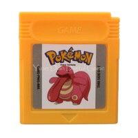 Nintendo GBC Video Game Cartridge Console Card Pokemon Series Cock English Language Version