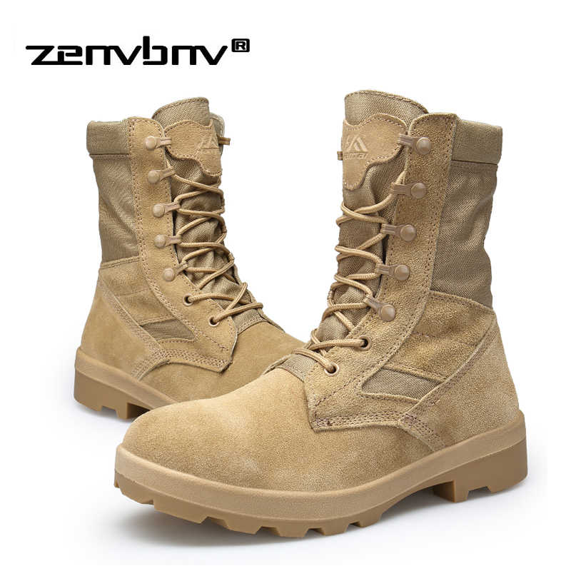 Autumn/Winter Men's Military Tactical Boots Casual Platform Rubber Shoes Mid-calf Ankle Boots Canvas Desert Boot Man Size 38~45 2017 spring phoenix denim women embroidered lace up cloth mid calf boot platform winter shoes casual canvas femal classic soft
