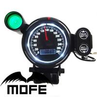 MOFE 80MM Original Logo Green Shift Light White LED Display Black LCD Stepper Motor Digital Speedometer
