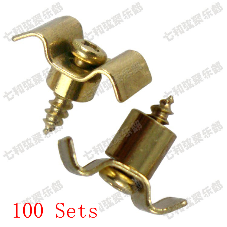 free shipping 100 sets golden guitar string retainers tree for electric guitar in guitar parts. Black Bedroom Furniture Sets. Home Design Ideas