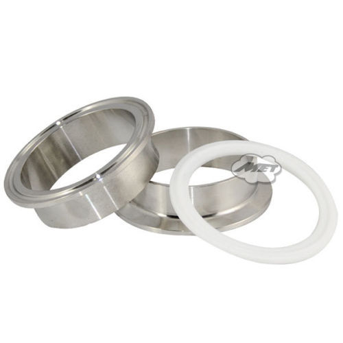 High Quality2x 102mm 4 Weld on Ferrule Sanitary Pipe Fitting Steel SUS SS316 + PTFE GasketHigh Quality2x 102mm 4 Weld on Ferrule Sanitary Pipe Fitting Steel SUS SS316 + PTFE Gasket