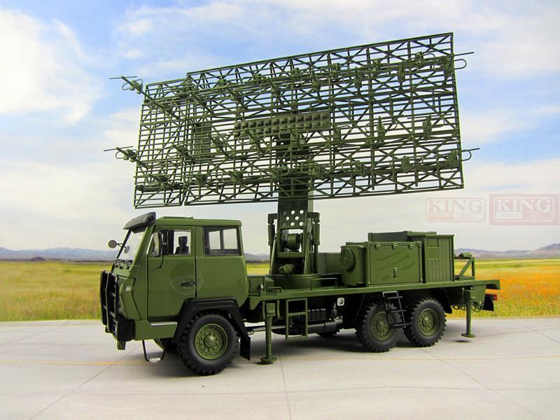 04E militaire radar camion alliage armée vert militaire radar radar de défense aérienne véhicule modèle 1:30