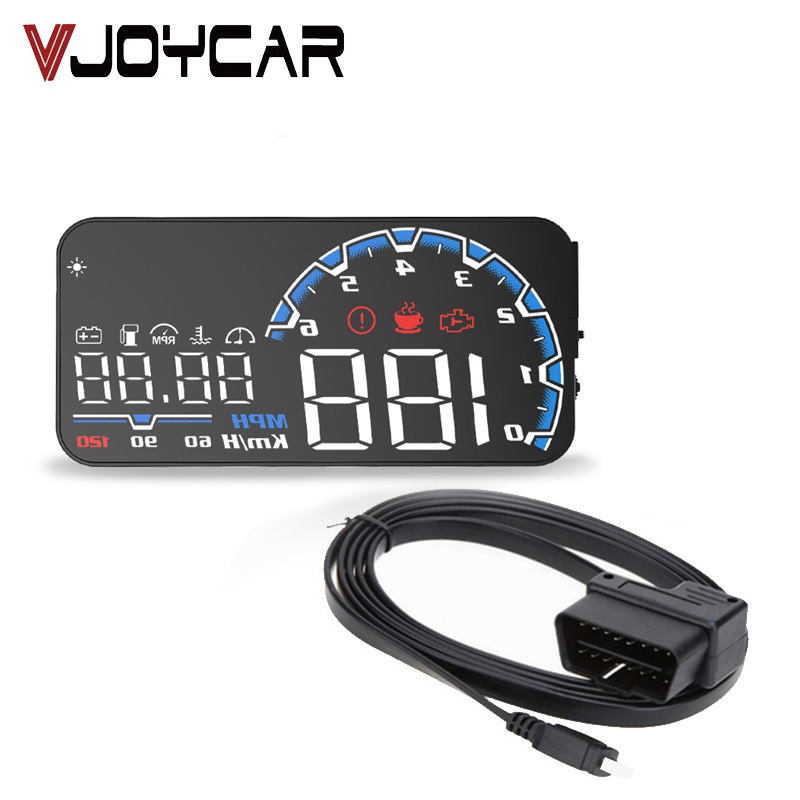 Head up Display OBD2 Scanner Speed Warning Fuel Consumption Data Diagnostic Overspeed Warning System Projector Free Shipping 40