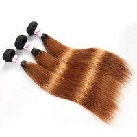 Megalook Pre Colored Brazilian Straight Human Hair Bundles Honey Blonde Ombre T1b30 Remy Hair Weave Bundle Hair Extensions
