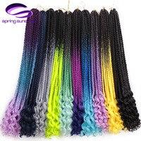 24 Inch 3 S богиня коробка Вязание косичками сплетенные волосы для наращивания 22 корни цветной канекалон синтетическая коробка косы с волнисты...