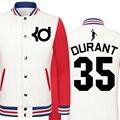 2016 Primavera y Otoño chaqueta de Kevin Durant Trueno modelos de impresión de gran tamaño de los hombres ropa de hombre chaqueta colegio chaqueta chicos