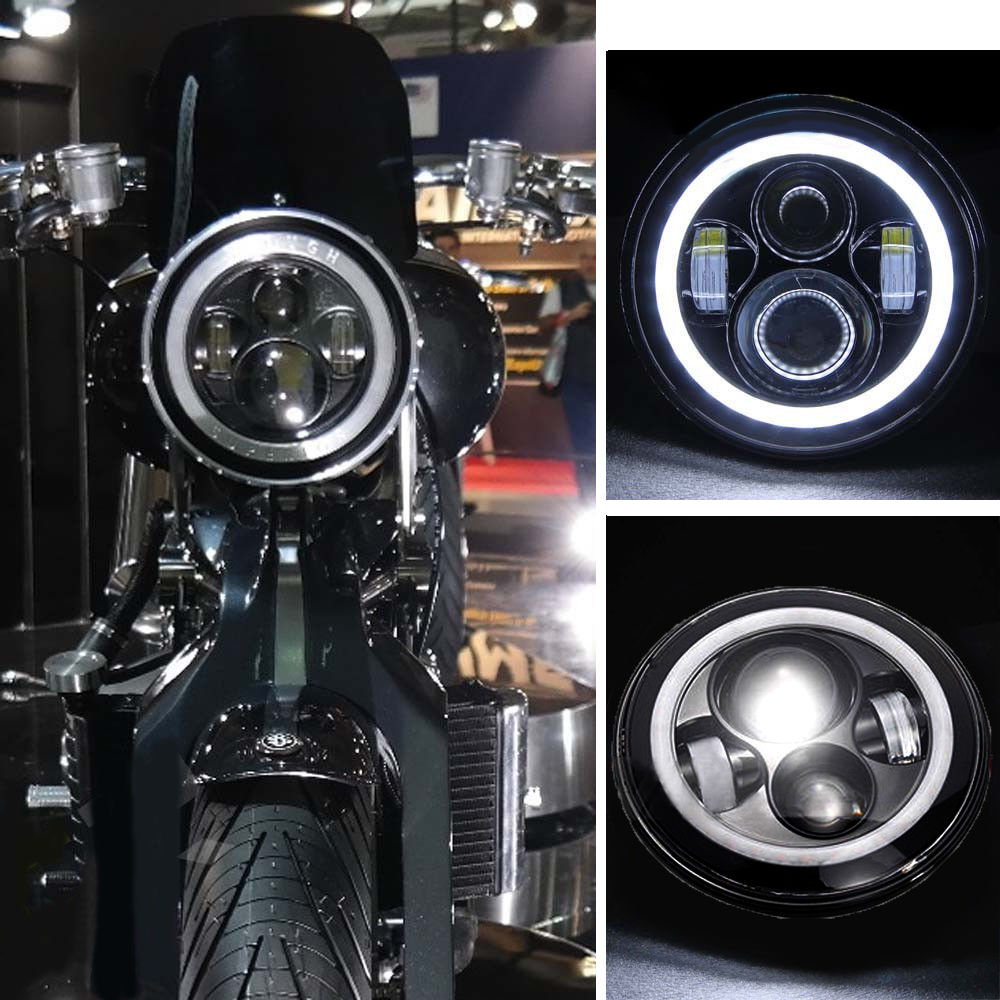 7 inch Motorcycle LED Headlight Install For Harley Davidson Hi/lo Beam Lamp Light