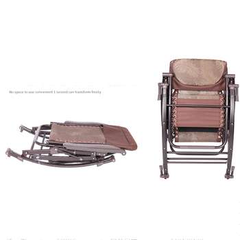 Office outdoor leisure chair Comfortable Relax Rocking Chair Folding Lounge Chair Relax Chair   Nap Recliner 180kg Bearing