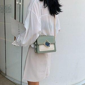 Image 2 - Łańcuch torby na ramię ze skóry Pu dla kobiet 2021 mała na ramię prosta torba specjalne blokady projekt kobiet torebki podróżne