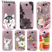 Tfshining Cases For Huawei Honor 6A DLI-TL20 DLI-AL10 Silicone Case Cover 5.0 Flowers Patterned Capa