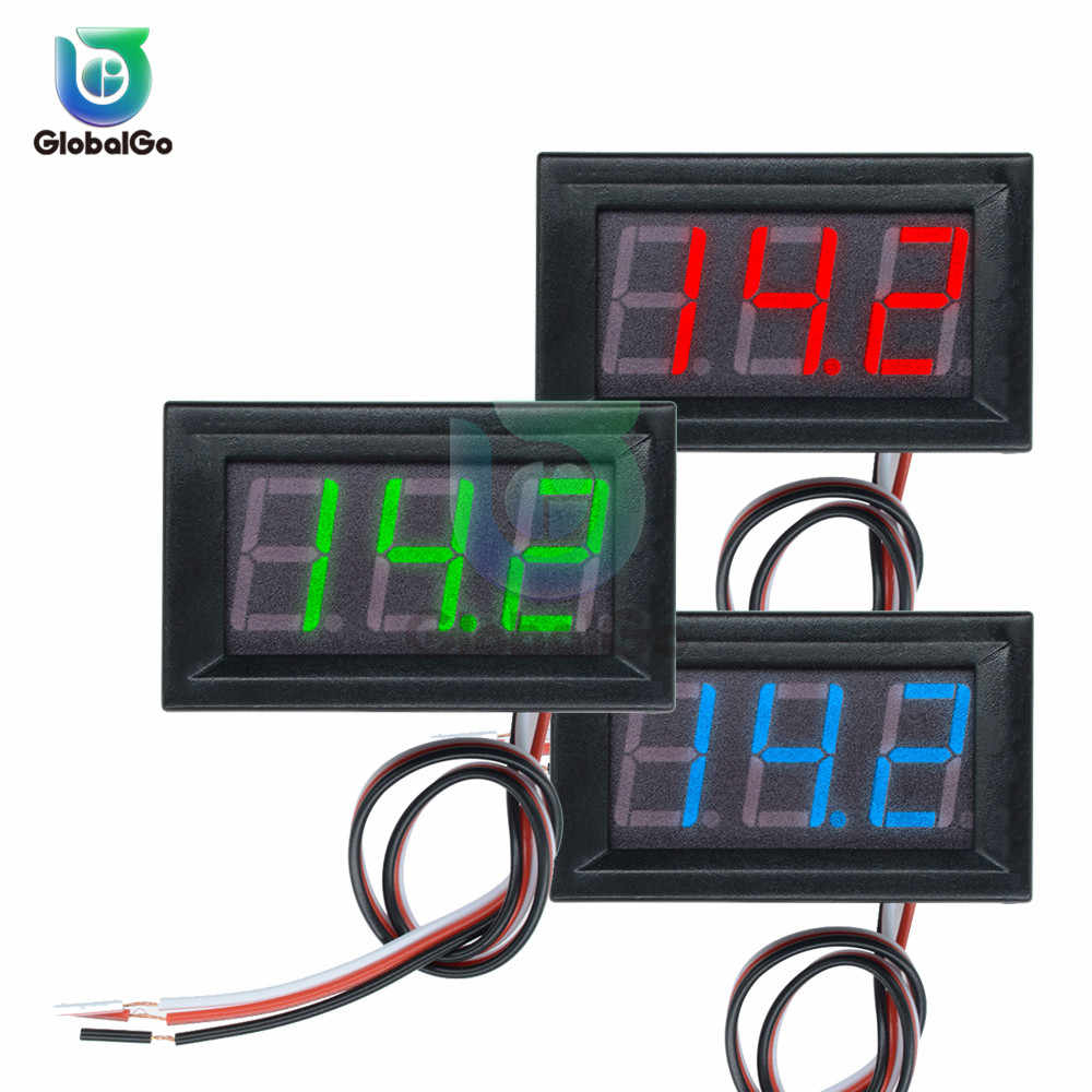 "0.56 inch Mini DC Digitale Voltmeter 2 Draad 3 Draad DC4.5V to30V 0.56 ""LED Display Voltage Panel Meter Voor 6V 12V Motorfiets Auto"
