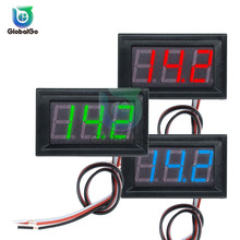 0.56 inch Mini DC Digital Voltmeter 2 Wire 3 Wire DC4.5V to30V 0.56 LED Display Voltage Panel Meter For 6V 12V Motorcycle Car 3 digit blue led digital voltmeter meter module 3 3 17v