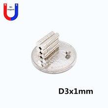 1000 pcs 3x1 ímã Mini pequeno N38 3*1 poderosos ímãs permanentes de NdFeB do ímã de neodímio super forte 3x1mm