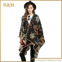 Women Girl Vintage Wool Blanket Oversized Tartan Scarf Wrap Shawl Plaid Check Pashmina Warm