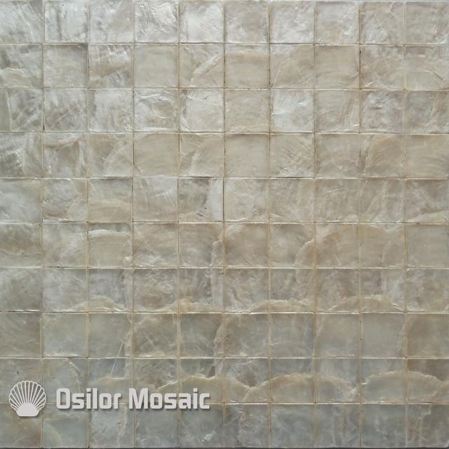 Weiße Farbe Natürliche 100% Capiz Shell Perlmutt Mosaik Fliesen Für  Wohnzimmer Oder Decke