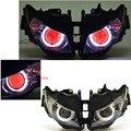 Модифицированный проектор Белого Ангела и красных глаз демонов  в собранном виде  для передних фар Honda CBR1000RR 12-16