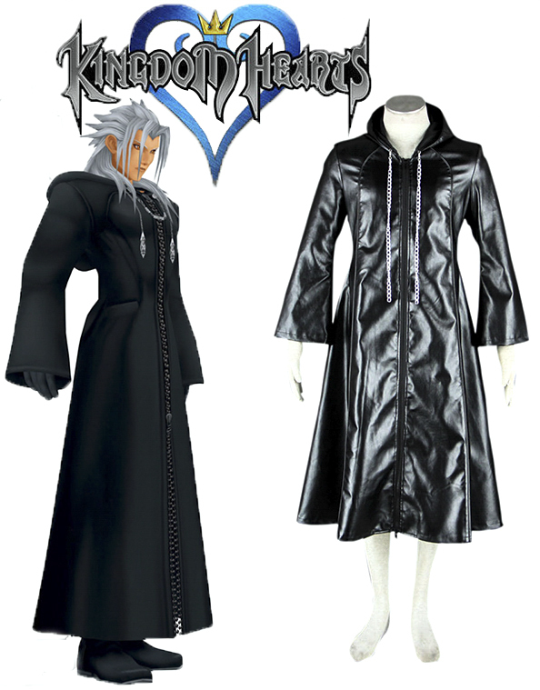 Free Shipping Kingdom Hearts Organization XIII 3rd Uniform Game Cosplay Costume