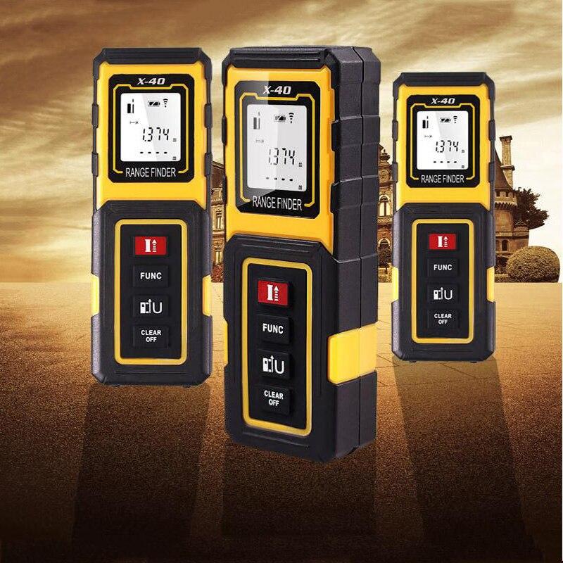 Laser range finder High precision Infrared measuring instrument Measuring room ruler Measuring instrument ruler test tool 40m