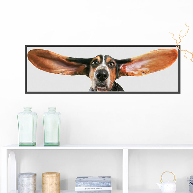 Basset Hound Decorative Wall Stickers For Living Room Bedroom Decoration  Accessories Home PVC Animal Decor Mural Wall Art Decals