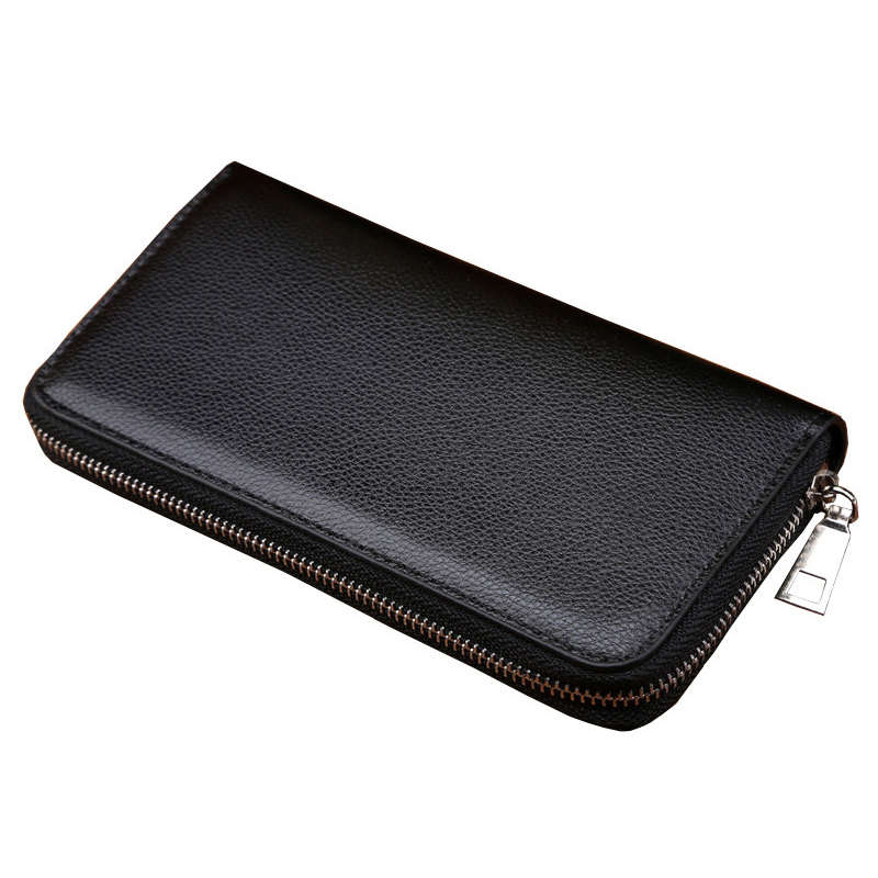 BLEVOLO High Capacity Men Wallets Male Long Purses Zipper Leather Money Clips Business Clutch Bags Coin Pocket Wallet For Men double zipper men clutch bags high quality pu leather wallet man new brand wallets male long wallets purses carteira masculina