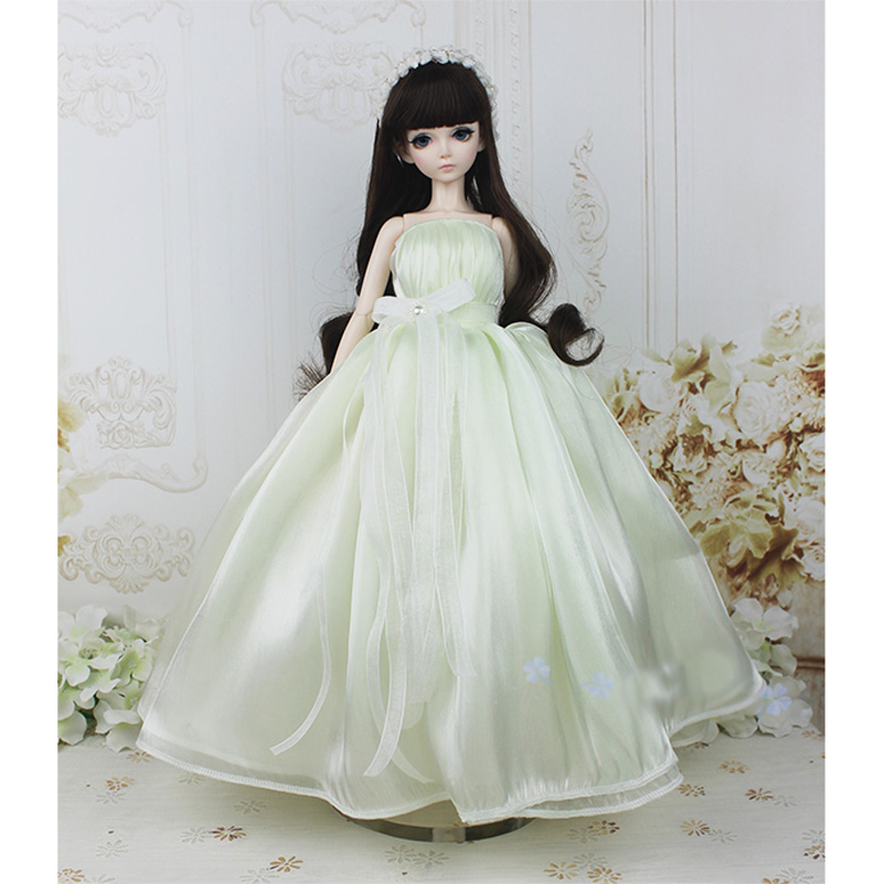 Princess 1/4 1/3 Wedding Dress Evening Dress BJD SD Doll Clothes With Headband Headdress Tube Top For 1/4 1/3 Doll Accessories 1 3 uncle bjd sd doll clothes accessories 4 color bjd hat bowler hat