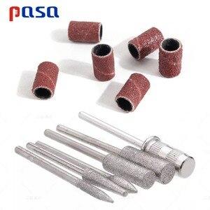 Image 2 - 6Pc Nail Art Drill Bit Replace Sandpaper Head Set with Case Gel Polish Tips Grinding Polishing Shaping Machine Rotary Tool Kits