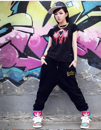 Favori 2015 taille hip hop pantalons de danse fille coréenne en sarouel  PI91