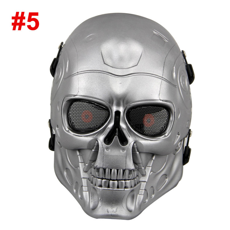 ABS Plastic Full Face Airsoft Paintball CS Terminator Mask Outdoors War Game Field Game Operation Cosplay Movie Prop Masks