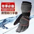 Envío libre de los hombres y de las mujeres Al Aire Libre guantes impermeables de invierno guantes caliente resistente al viento invierno engrosada puntos de movimiento