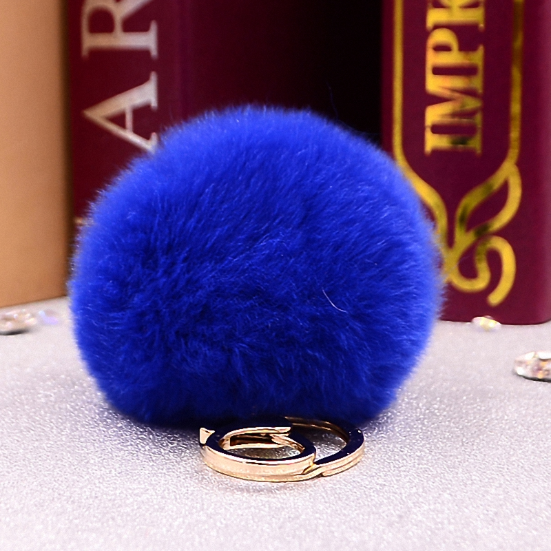 Fluffy 11 colors Rabbit Fur Pompom 8CM For Bags&Cars Charm Real Natural Fur Ball