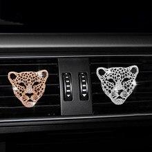 Pieniądze Leopard z diamentami samochód wylot klimatyzacji perfumy odświeżacz do samochodu akcesoria do wnętrza samochodu zapach samochodowy