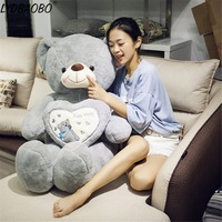 1pc Giant I Love You Teddy Bear Large Stuffed Plush Toy Holding LOVE Heart Soft Gift Valentine Day Birthday Girls' Brinquedos