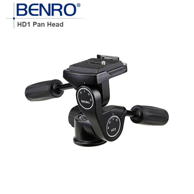 Benro HD Series 3-Way Pan Heads tripod head HD1 Professional Magnesium Alloy Panhead Weight 0.5kg Max Loading 5kg