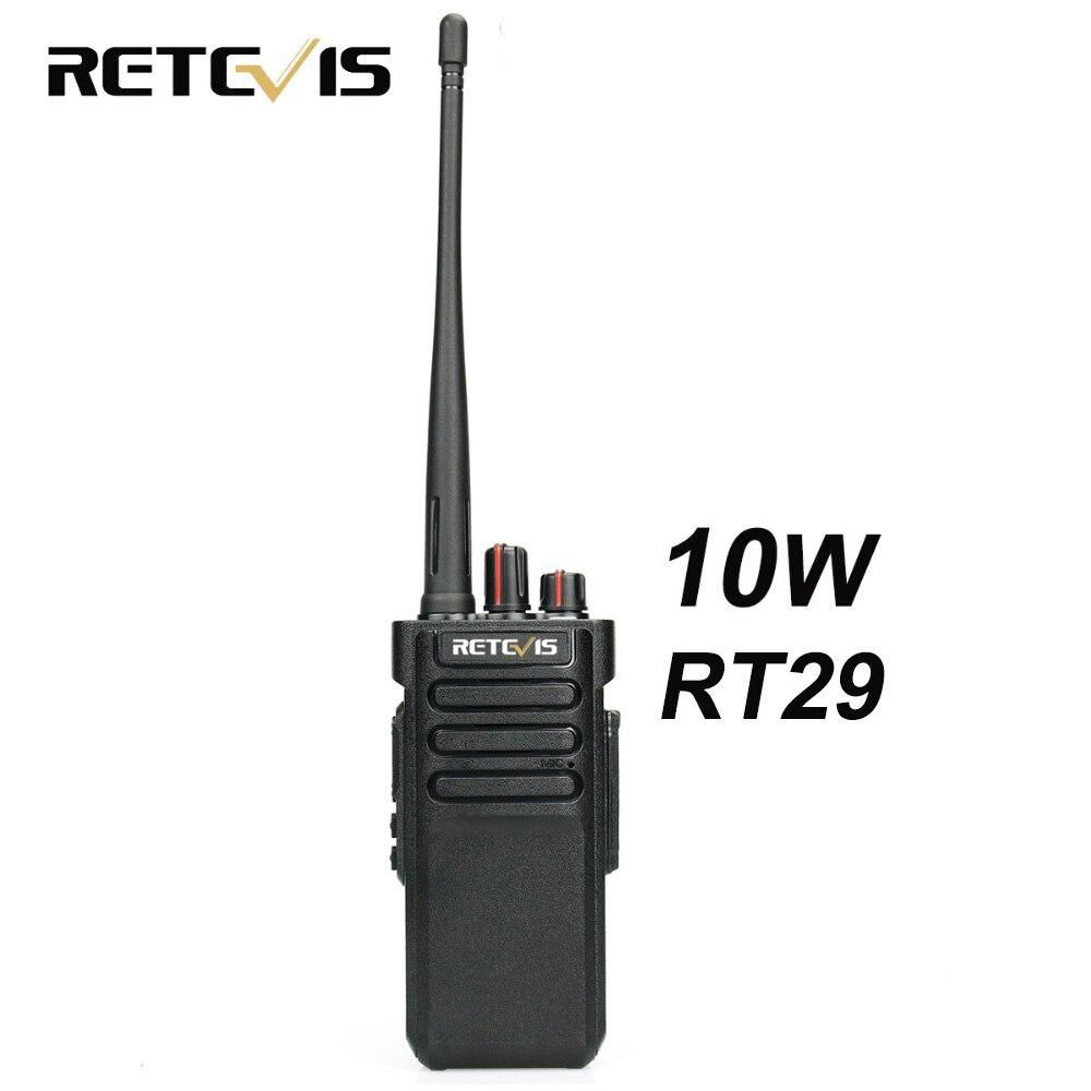 10 w Talkie Walkie Retevis RT29 UHF ou VHF VOX Scrambler Scan IP67 Deux Voies Radio HF Émetteur-Récepteur Étanche en option