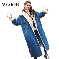 Winter Jacket Women Thickening Lamb Loose Coat Woman Fund Easy Will Code Cotton Long