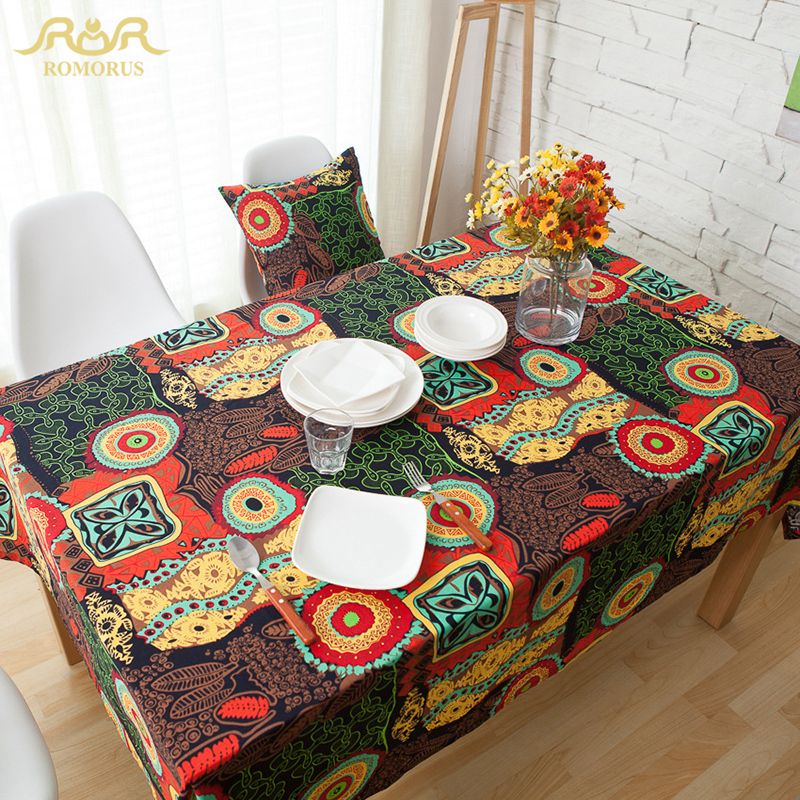 bohemia style top grade table cloth for wedding home dinning picnic printed elegant table covers wholesale